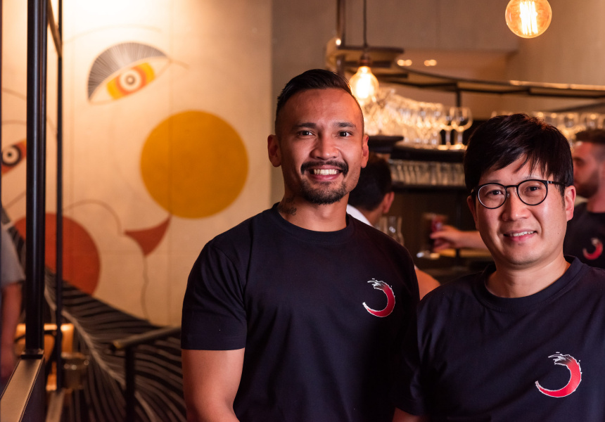 Co-owner Nathan Nababan and chef Jae Hyun-Park