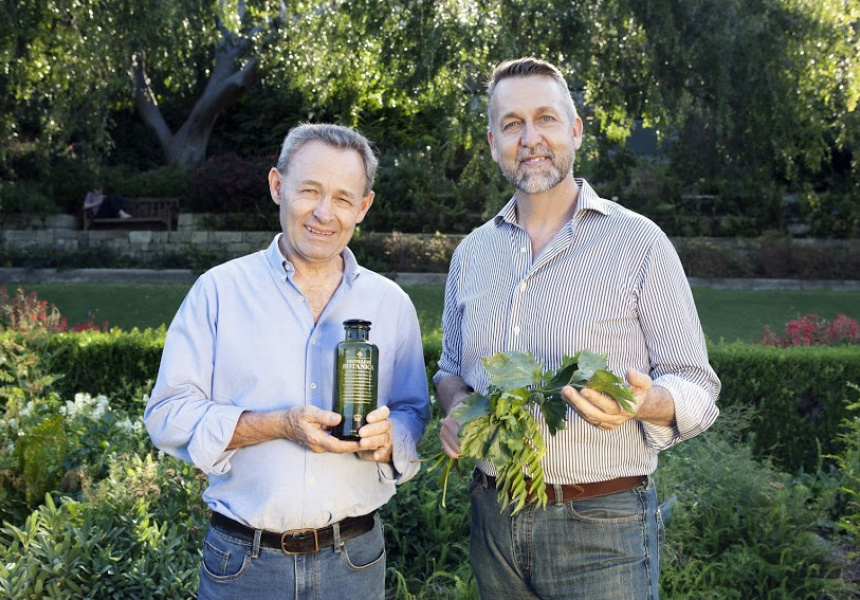 Philip Morre (Distillery Botanica master distiller) and Jimmy Turner (Royal Botanic Garden's Director of Horticulture)