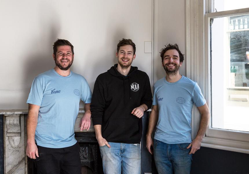 Justin Penman, Oliver Brown and Josh Talbot