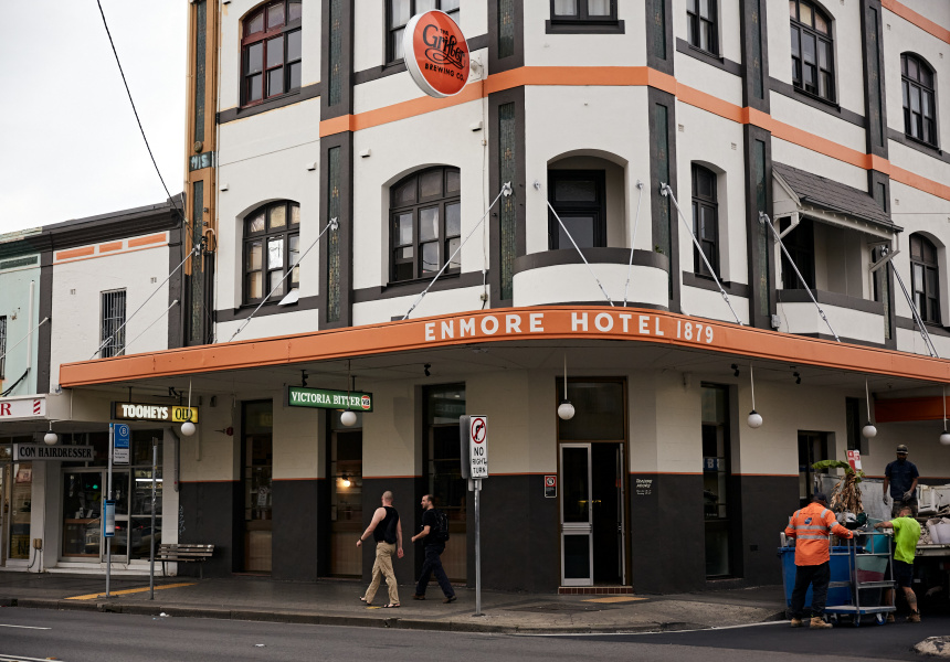 The Enmore Hotel Is a '70s-Style Boozer in the Former Sly Fox Space, With Pool and Pies Until 3am