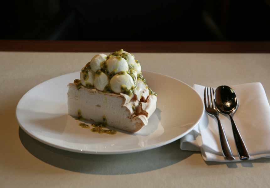 Passionfruit Pavlova at Rockpool Bar and Grill.