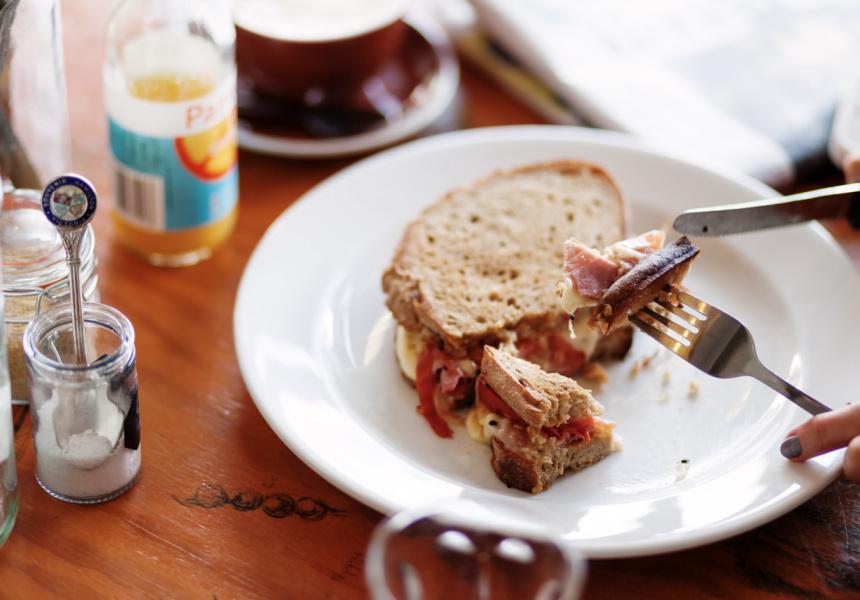 Ham sandwich at Pomona Cafe