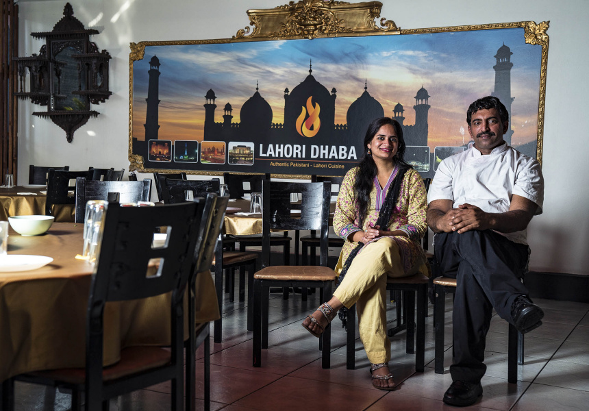 Faiza Nashi (L) and Rana Arshad