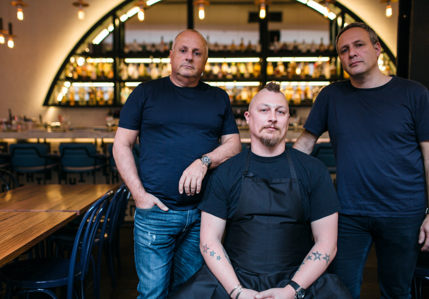 Left to right: Chris Lucas, Benjamin Cooper, Philip Rich at the recently reopened Chin Chin