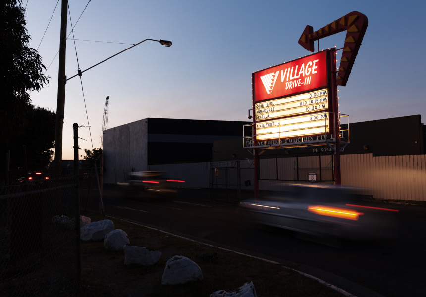 Coburg drive-in: Scenes from a Saturday night.