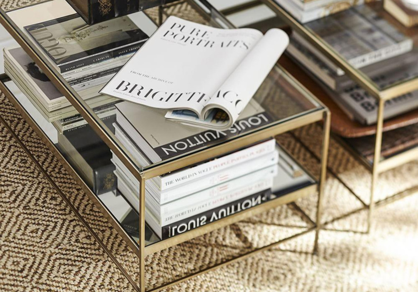 The fit out six coffee tables broadsheet for Low lying coffee table