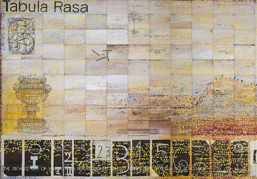 Imants Tillers, Tabula Rasa (for my father) (detail)