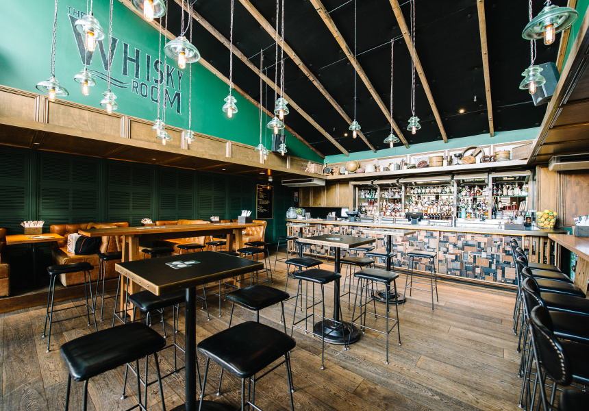 The Whisky Room At The Clock Hotel Broadsheet