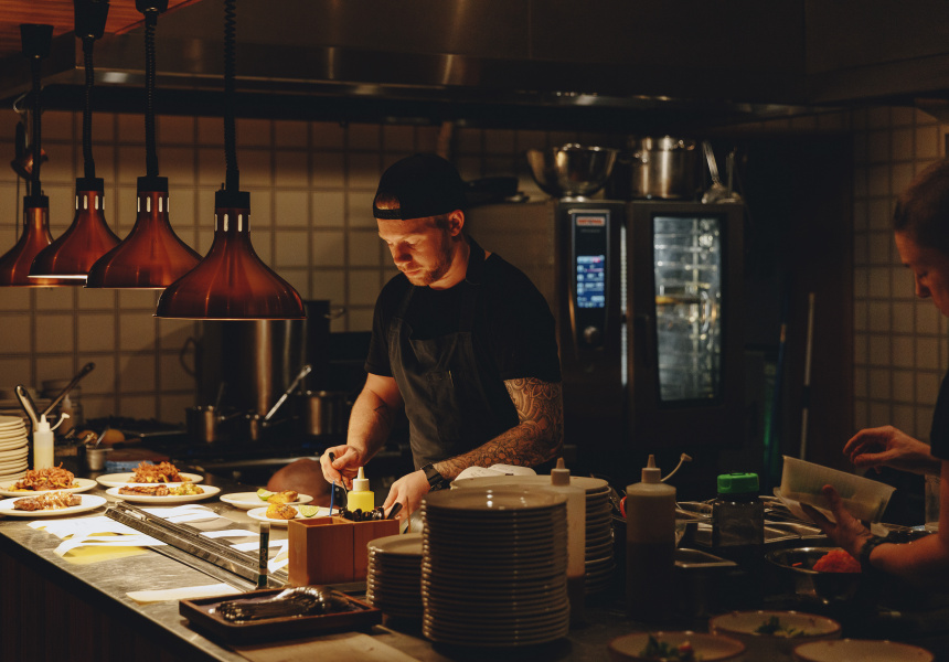 The kitchen at Old Palm Liquor in Brunswick East