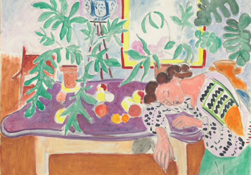 Henri Matisse Still life with sleeping woman [Nature morte à la dormeuse] 1940 oil on canvas 82.5 x 100.7 cm Collection of Mr and Mrs Paul Mellon National Gallery of Art, Washington DC © Succession H. Matisse/Copyright Agency