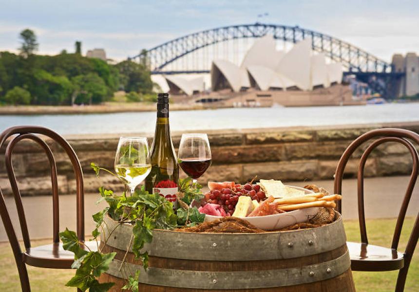 Pop up wine bar at the royal botanic gardens broadsheet for Au jardin restaurant botanic gardens