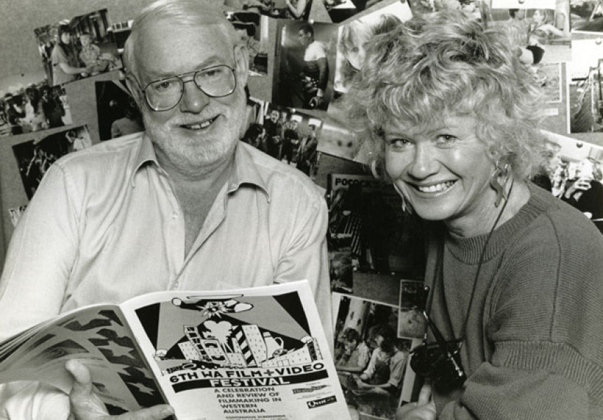 David and Margaret at the 6th WA Film Video Festival, 1990.