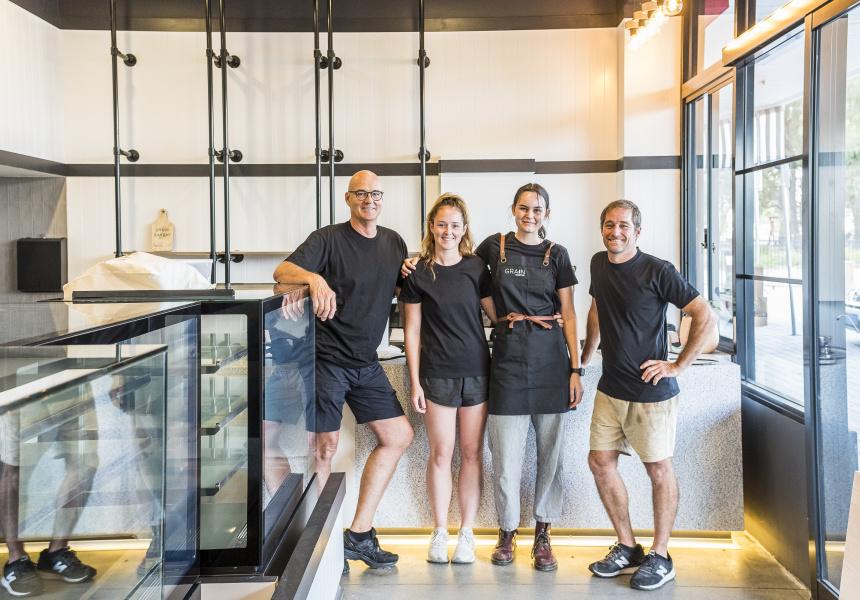Grain Bakery's Shane Pallot, Annalyce Pallot, Ruby Fallow and Brendan Stone