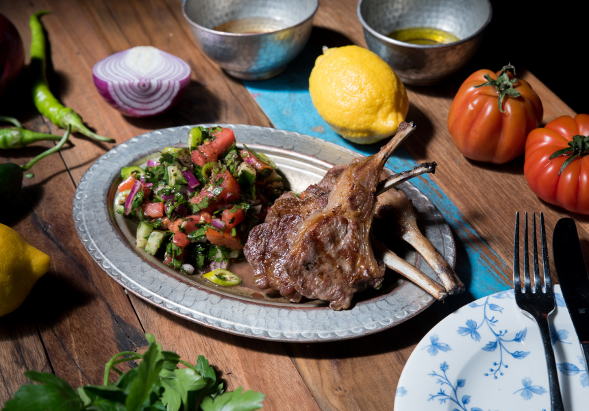 Easy Charcoal-Barbequed Lamb Cutlets With Coban Salad