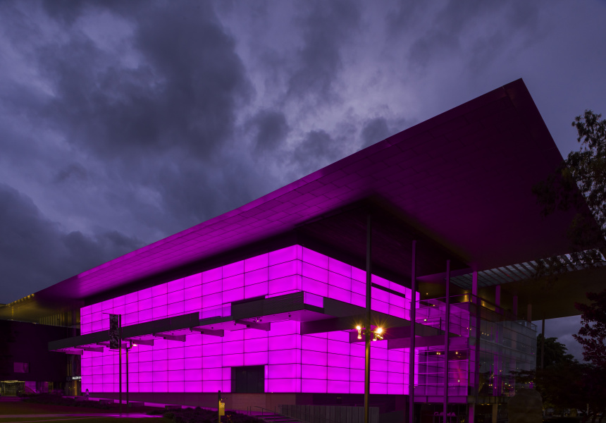 James Turrell's architectural light installation at GoMA