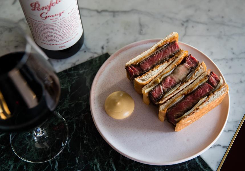 Penfolds Grange Steak Sandwich