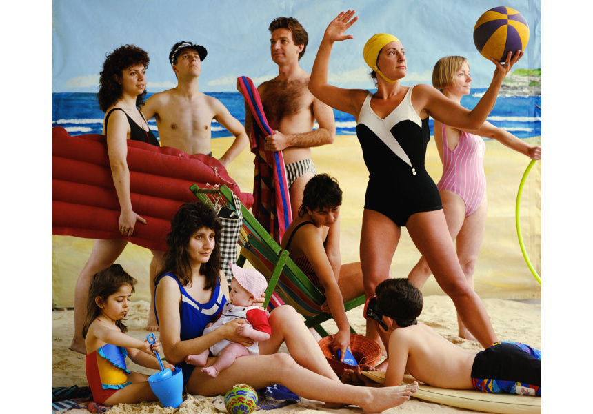 The bathers  1989 from the series Bondi: playground of the Pacific chromogenic print 95.0 x 112.0 cm Monash Gallery of Art, City of Monash Collection donated through the Australian Government's Cultural Gifts Program by the Bowness Family 2010 courtesy of the artist