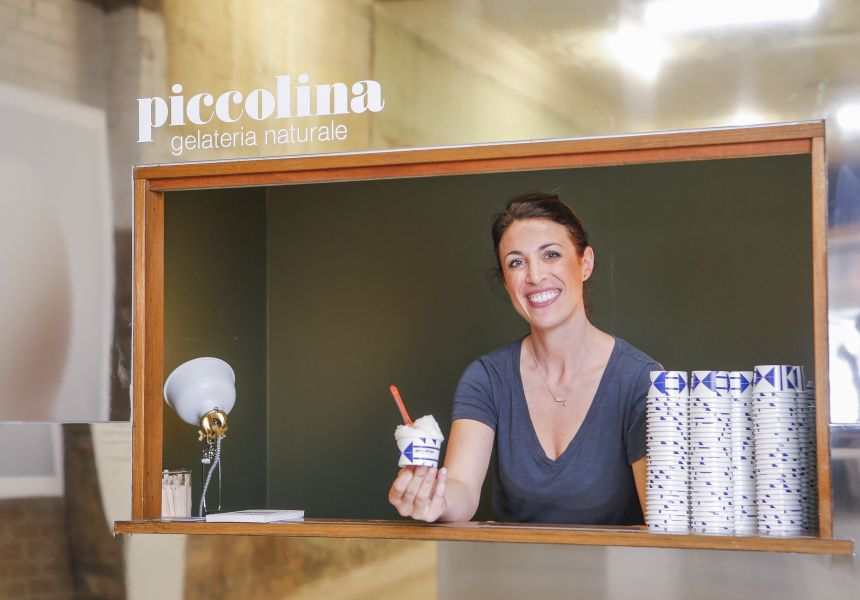 Sandra Foti of Piccolina Gelateria for the National Gallery of Victoria's Melbourne Design Week 2017 at Watchmaker, Collingwood.