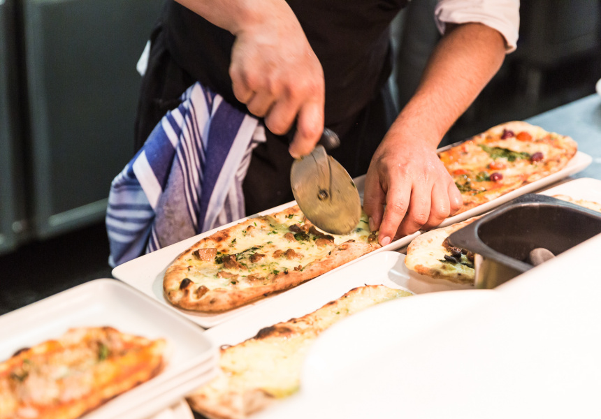 Pizza-making at Ladro Tap