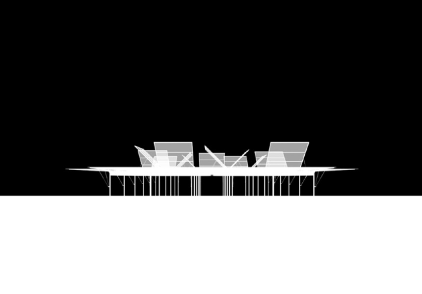 Render of Sean Godsell Architects' MPavilion