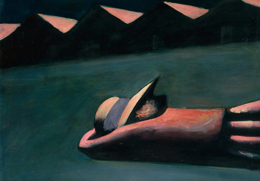"Charles Blackman, ""Prone Figure"" 1953"