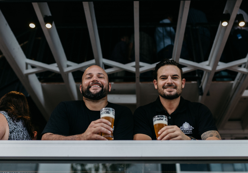 Aether Brewing's Dave Ward and Jimmy Young.