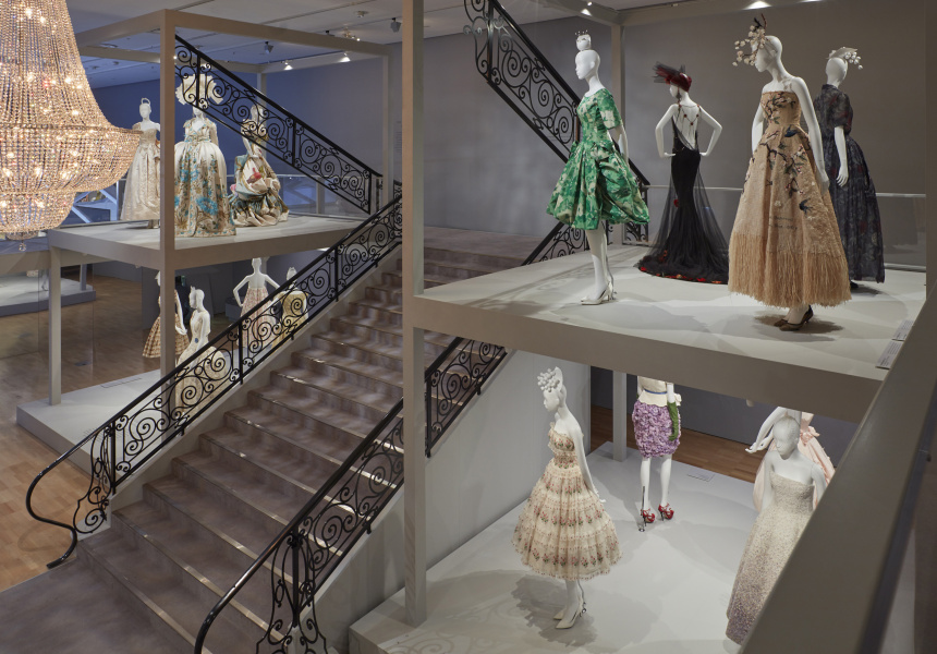 Installation view of The House of Dior: Seventy Years of Haute Couture at NGV International, 27 August – 7 November 2017