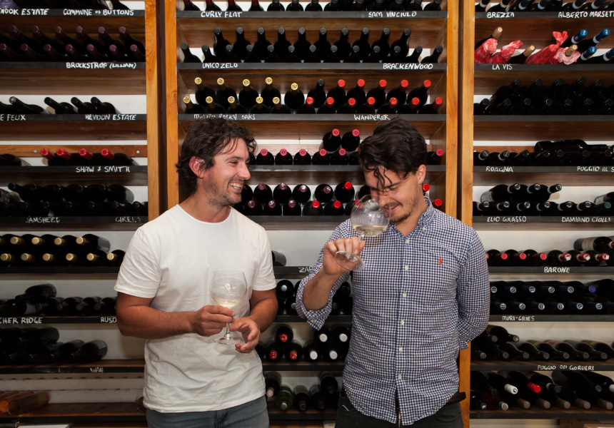 Ryan O'Meara of Express Winemakers and James Tuxworth of Il Lido.