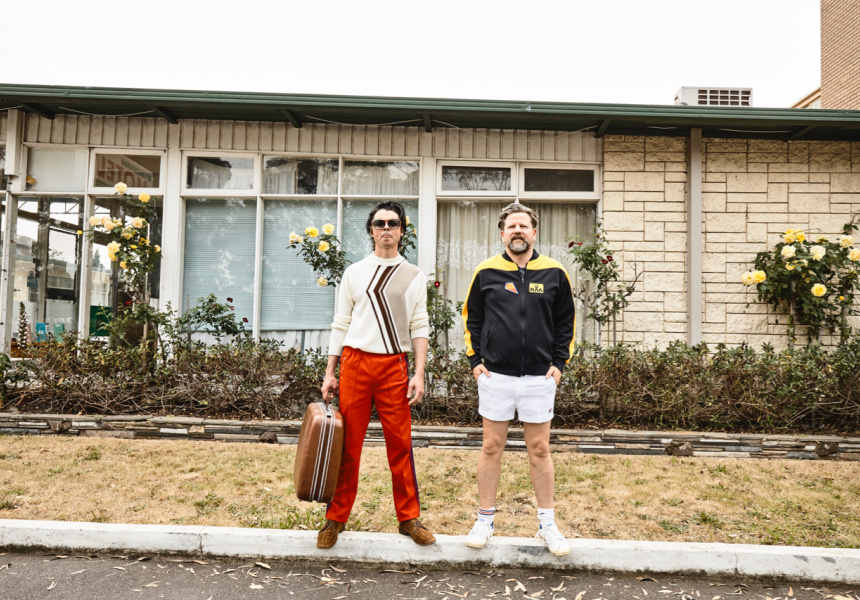 Tim Ross and Motel co-star Kit Warhurst at the Parkville Motel