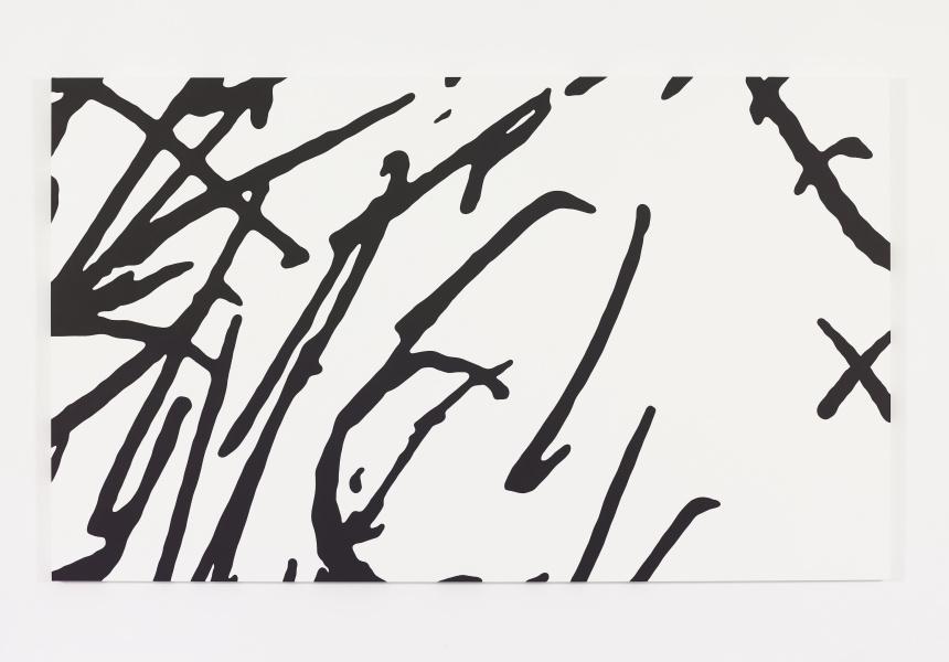 KAWS Untitled (MBFF1) 2014  Acrylic on canvas 182.9 x 304.8 cm
