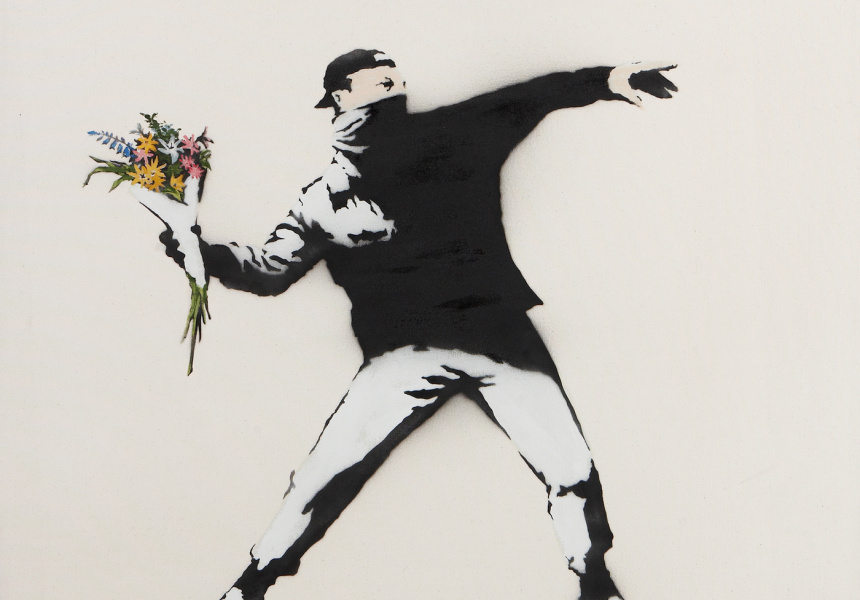 A major banksy exhibition heads to melbourne broadsheet for Banksy mural painted over