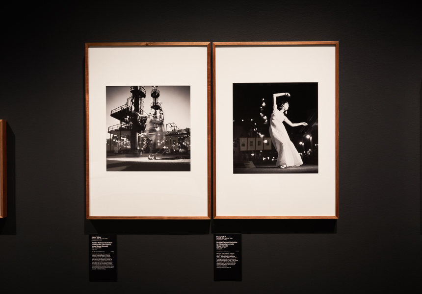 Installation view of the National Gallery of Victoria's Henry Talbot: 1960s Fashion Photographer exhibition at NGV Australia at Federation Square