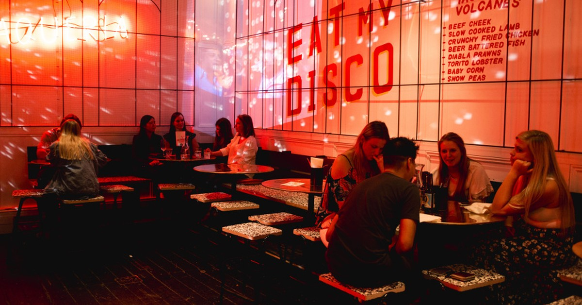 Disco Mexico Taqueria Broadsheet
