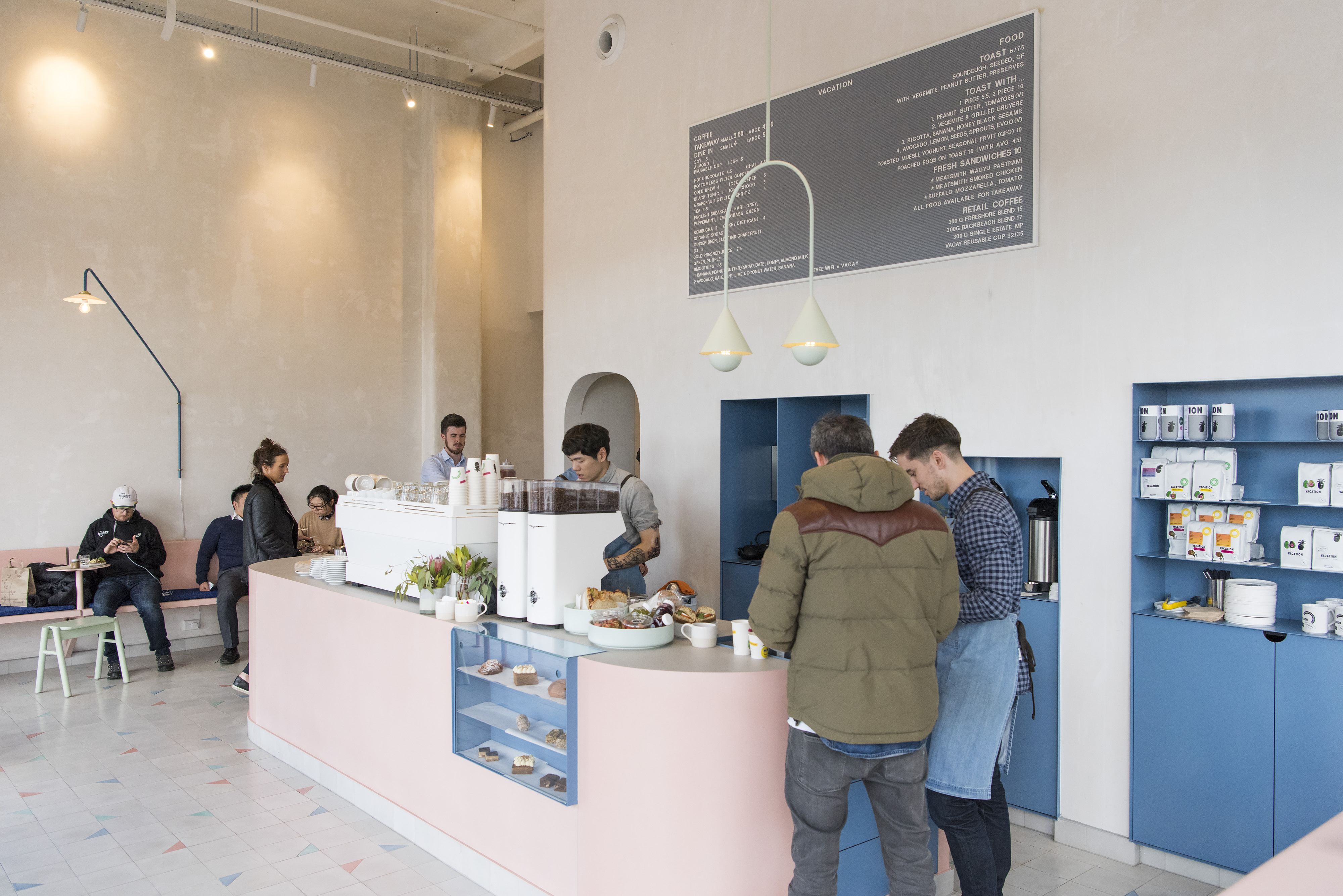 Vacation, a playful, Miami Vice-looking coffee shop in the CBD | Photography by Pete Dillon