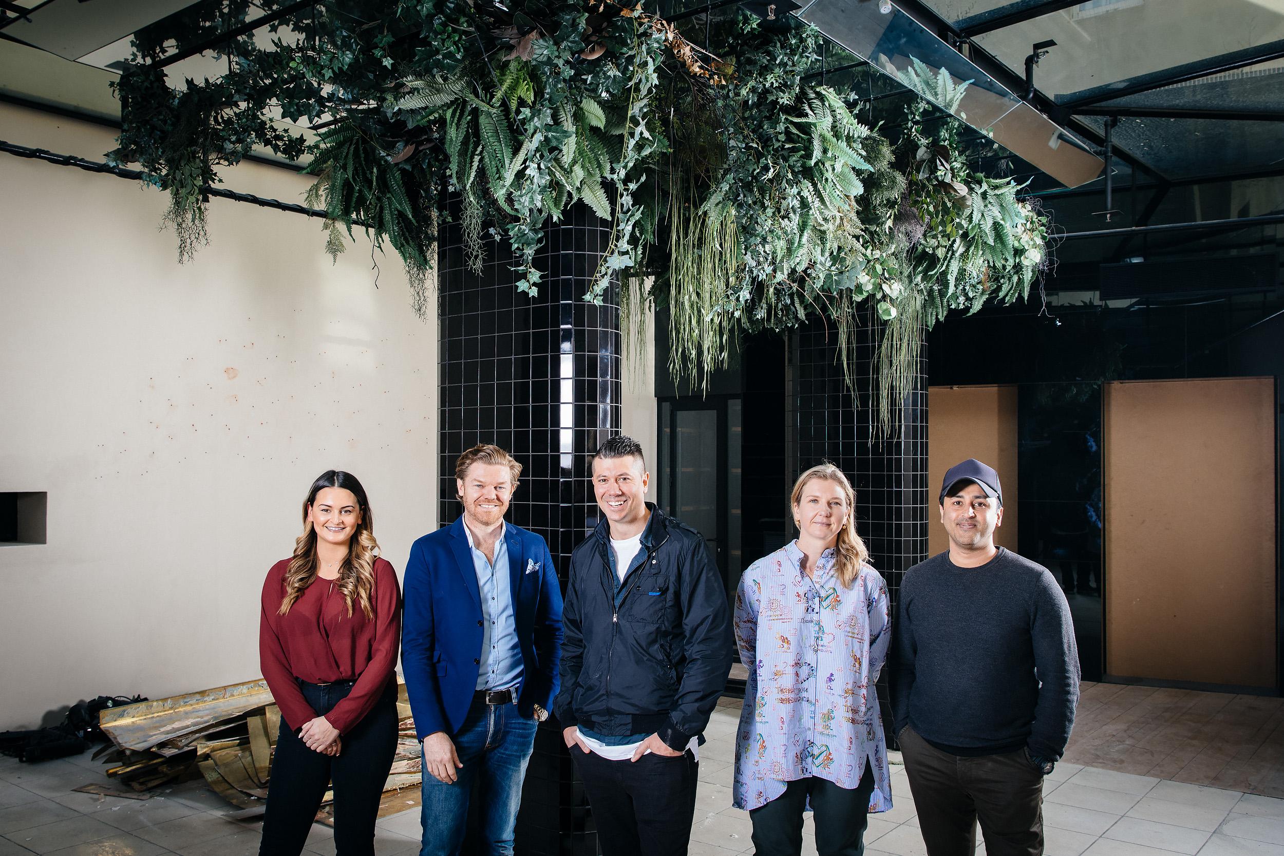Jess Harker, Andrew Ryan, Dan Hawkins, Iva Foschia and Reg Lodewyke