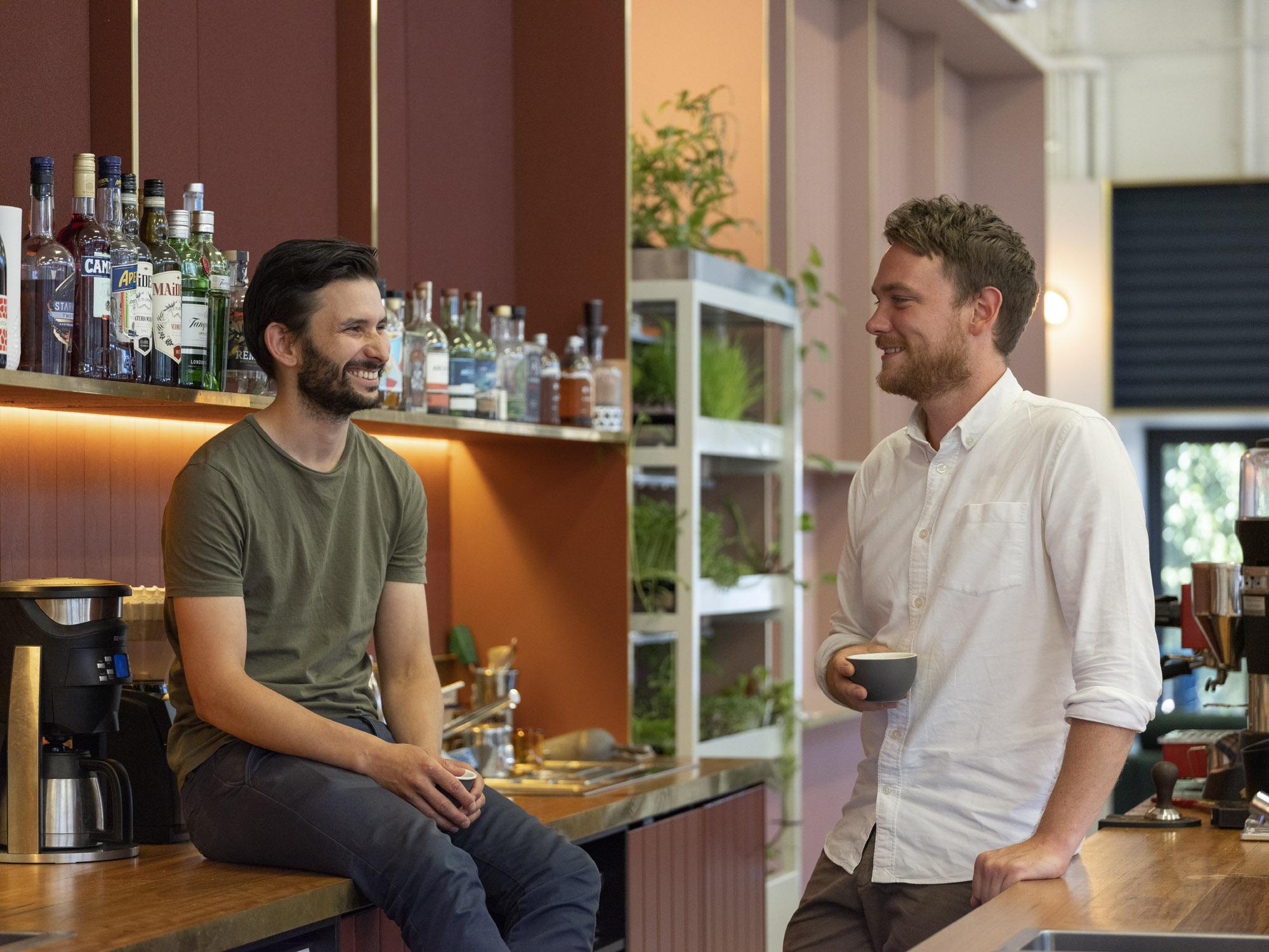 Michael Bascetta (left) and Roscoe Power at Worksmith / Photography: Josh Robenstone