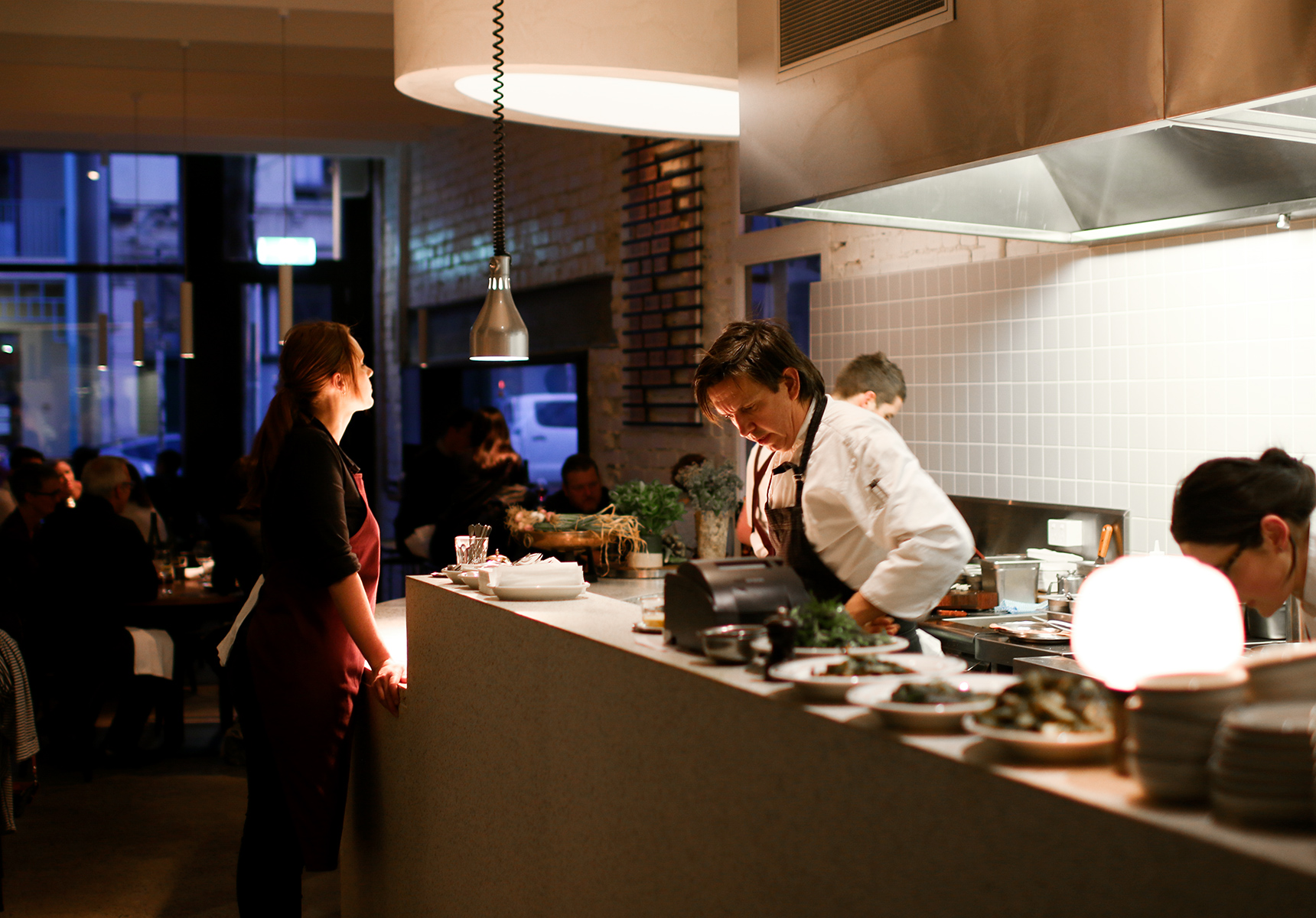 Andrew McConnell in the kitchen at Marion in Fitzroy | Photography by Gareth Sobey