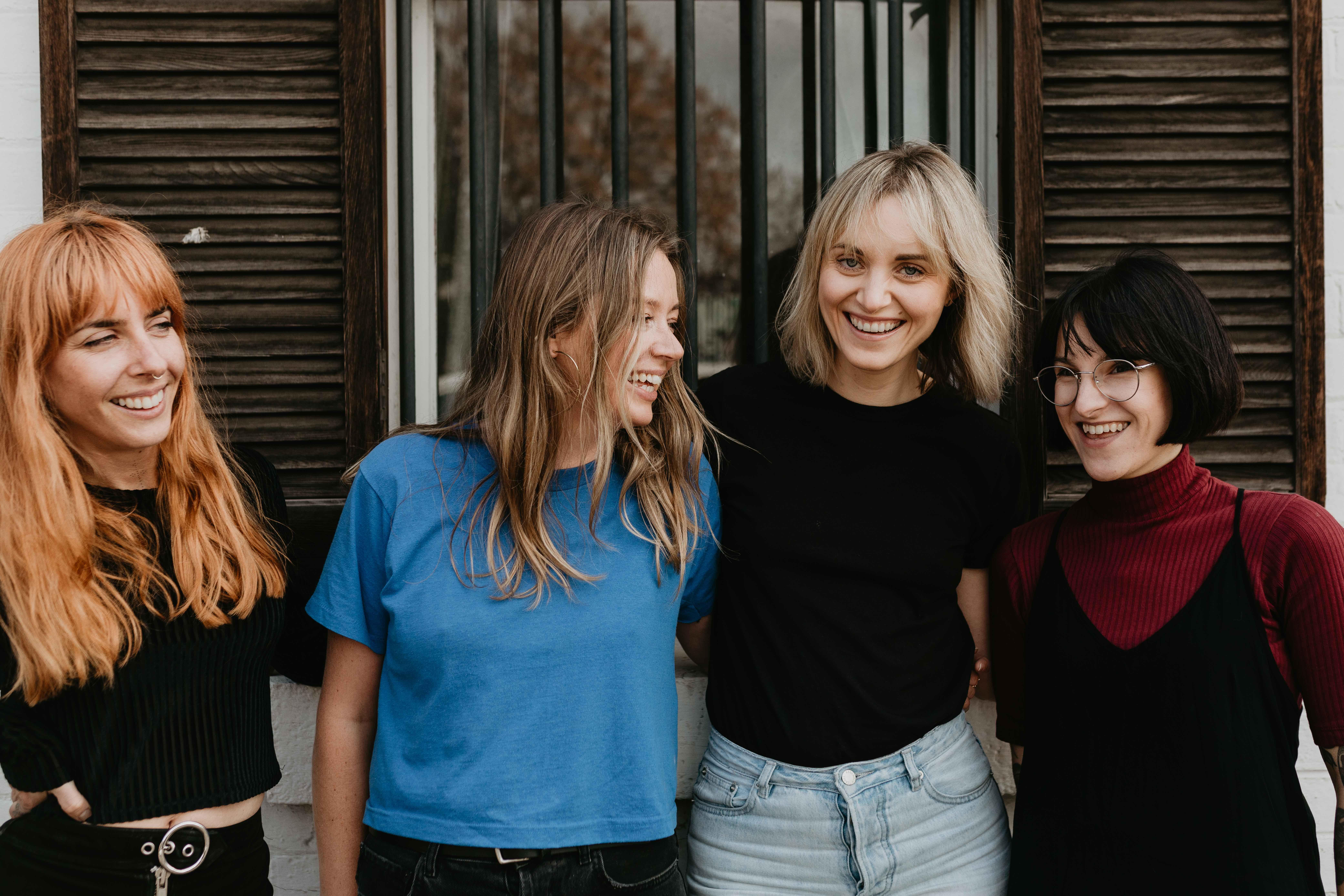 Stylists Erin Frances, Donna Sheridan, Lucia O'Sullivan and Shannon Senol.